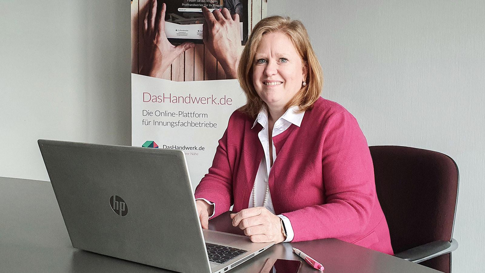 Geschäftsführerin der neuen GRÜN Handwerk Digital GmbH: Gabriele Philipp.