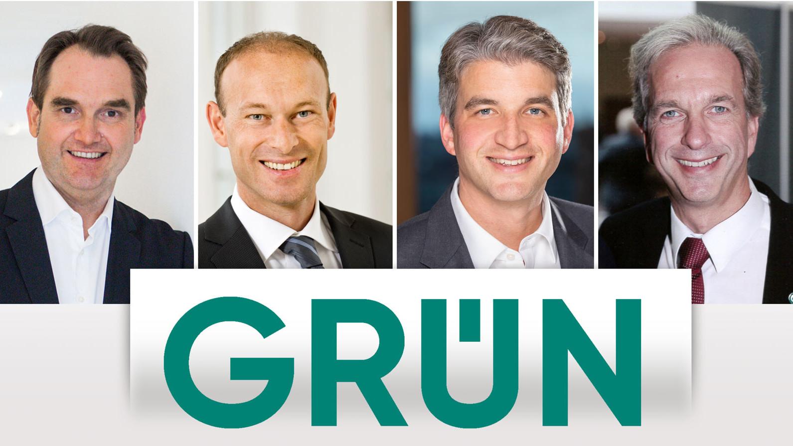 Dr. Oliver Grün, Prof. Dr. Rainer Lauterbach, Fabian Durst und Dirk Hönscheid (v.l.n.r.)